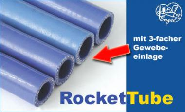 RocketTube Gewebe-Auspuffschlauch blau 21x100mm