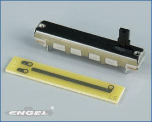 Schieberegler 10kOhm/30mm mit Platine