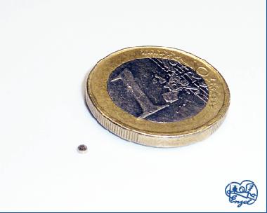 Power Magnet Scheibe 2x1 mm, 10 Stk.