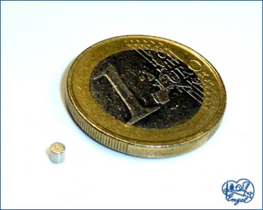 Power Magnet Scheibe 2x2 mm, 4 Stk.