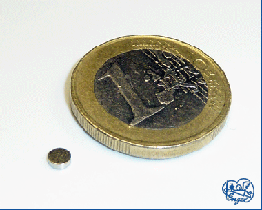 Power Magnet Scheibe 3x1 mm, 4 Stk.