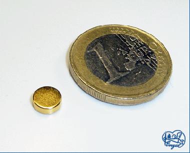 Power Magnet Scheibe 6x2 mm, 2 Stk.