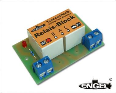 Relais-Block für Turmmechanik
