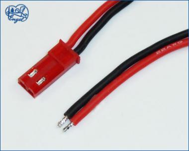 BEC Stecker mit Buchsenkontakten und Silikon-Kabel 0,5 mm², 60 cm