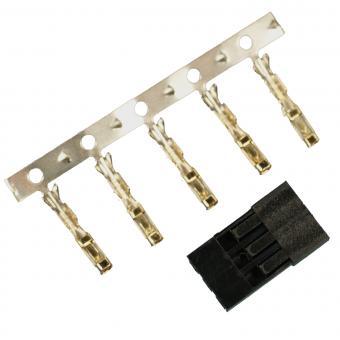 Servostecker-Bausatz Graupner/JR GOLD mit Buchsenkontakten 5 Stück
