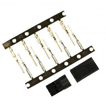 Servostecker-Bausatz Graupner/JR GOLD mit Stiftkontakten 5 Stück