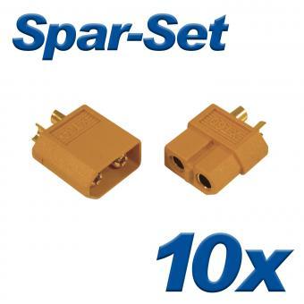 XT60 Buchse+Stecker 60A, 10 Paar