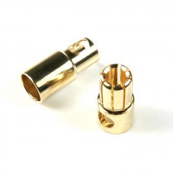 Goldkontakt Stecker + Buchse 6 mm