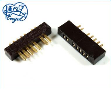 MPX Stecker mit Buchse 7-Pol GOLD schwarz, 5 Paar