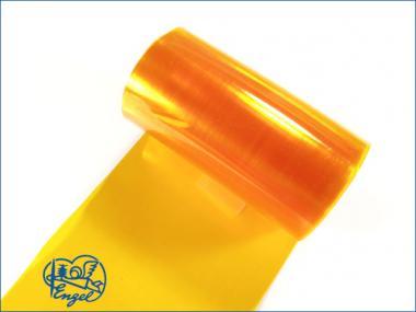 Schrumpfschlauch PVC 95mm transparent orange
