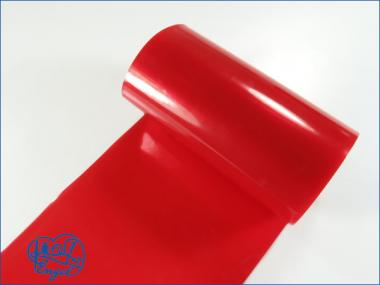 Schrumpfschlauch PVC 37mm transparent rot