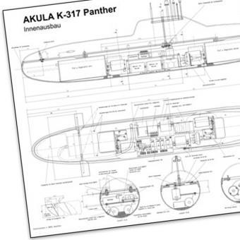 Bauplan mit Bauanleitung Akula K-317