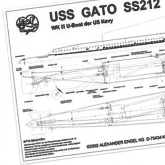 Bauplan mit Bauanleitung SS212 GATO