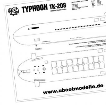 Bauplan mit Bauanleitung TYPHOON TK-208