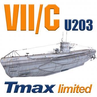 U203 Typ VII/C mit Tauchsystem Tmax - BRUSHLESS - limitierte Stückzahl