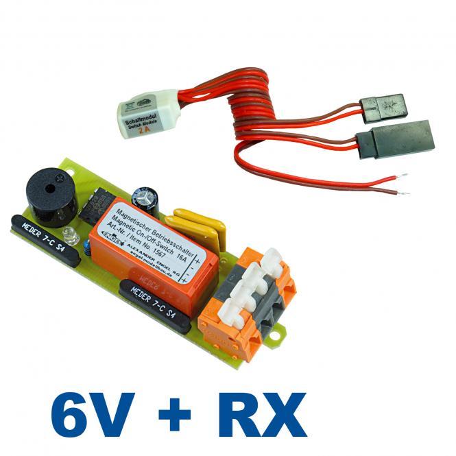 Magnetschalter-Kombi: 6V/16A + Rx Schaltmodul