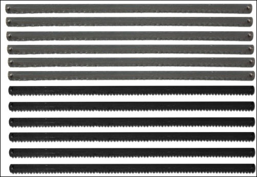 Sägeblätter für Sägebogen 148 mm, 12x Metall