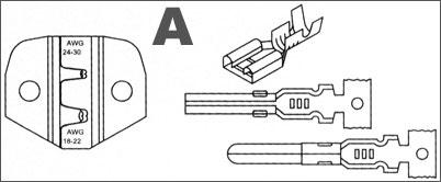 Crimp-Zange Einsatz A