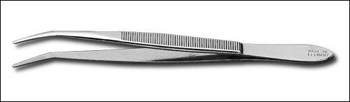 Spitz-Pinzette 120mm, gebogen