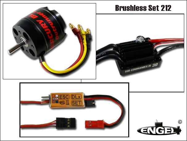 BrushlessPower Antriebsset für U-Bootmodell Klasse 212