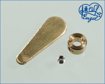 Ruderhebel Ms 27mm mit Stellring 4mm