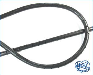 Spiralschlauch 3,5 mm SCHWARZ, 1 m