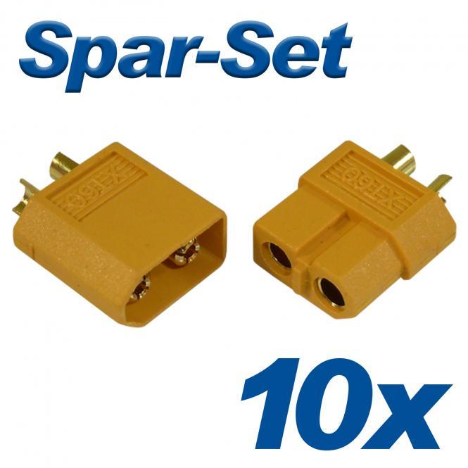 XT30 Buchse+Stecker 30A, 10 Paar