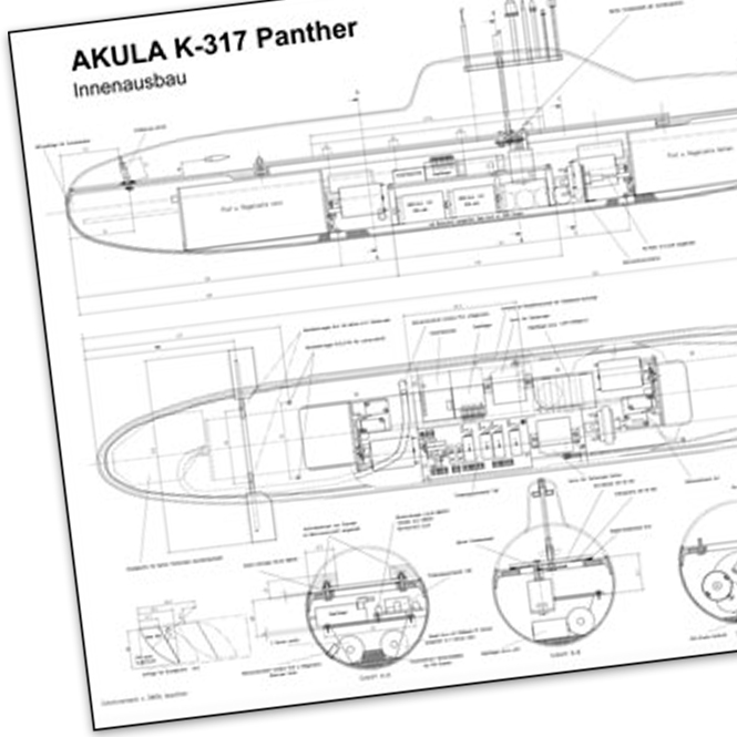 Plans and manual for Akula K-317