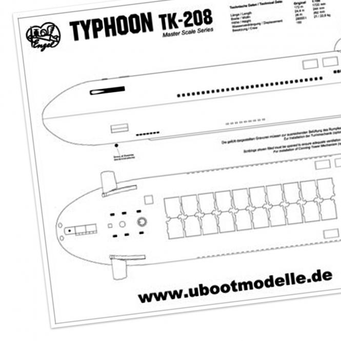 Plans and manual TK-208 TYPHOON