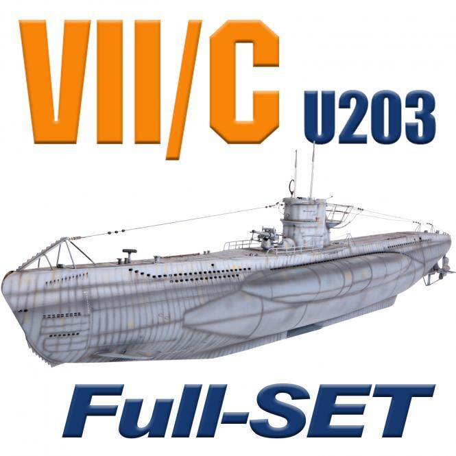 U203 Typ VII/C mit Tauchsystem Tmax - BRUSHLESS - FULL SET