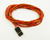 Servo Lead for JR/HiTec/Graupner and Futaba/Robbe 0.14mm², snaked 850mm/39.4""