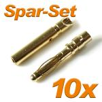 Gold Connector G2L 2mm 10A 10 sets
