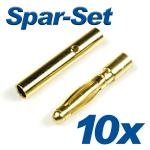 Gold Connector G2s 2mm 10A 10 sets