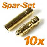 Gold Connector G-3mm 30A, 10 sets