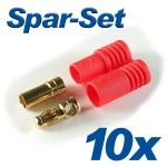 Gold Connector CT-3.5mm 35A with Casing 10 sets