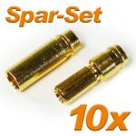 Gold Connector Plug + Socket 5 mm, 10 pair