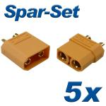 XT90 Plug+Socket 90A, 5 pair