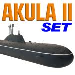 AKULA II Model Submarine SET