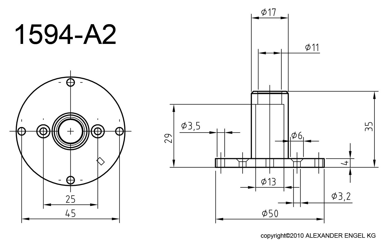 Modellbau Alexander Engel KG | Motorflansch 540 | online kaufen